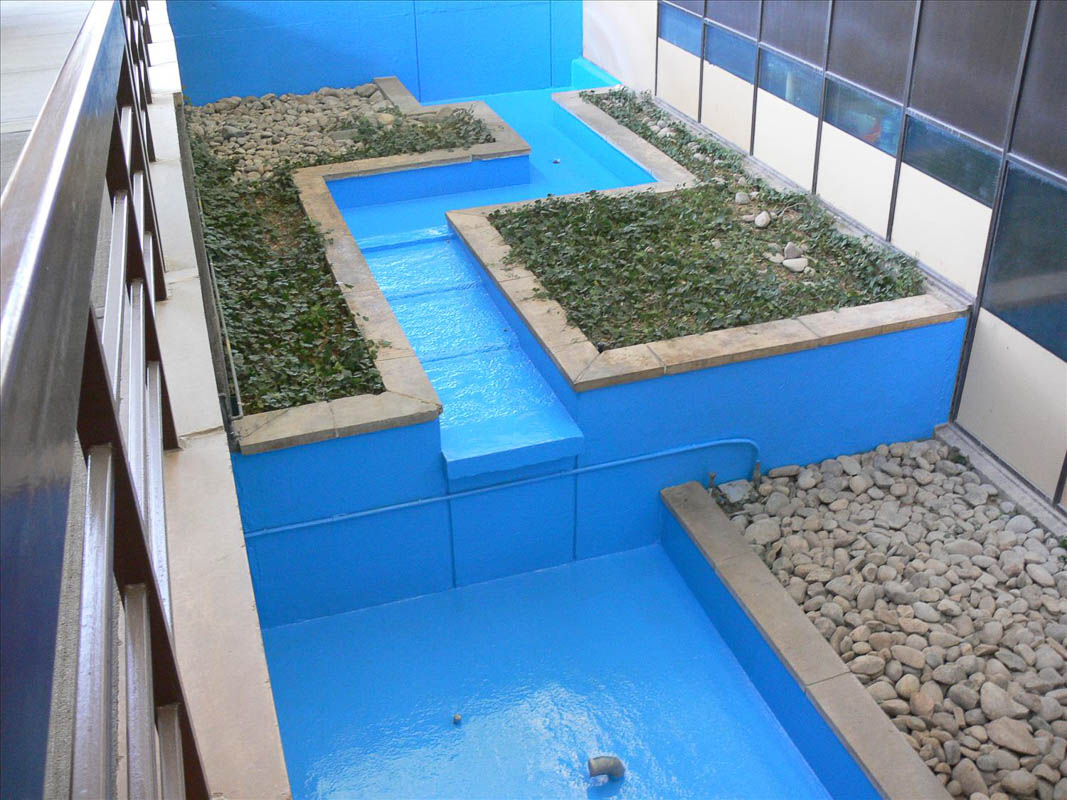 DYNA-PUR Brushable Polyurea on Water Feature Substrate