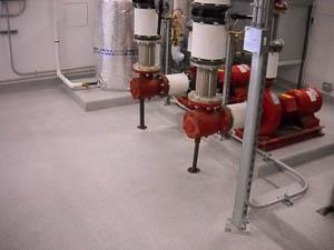 DYNA-PUR Brushable Polyurea Protects Pump Room Floor