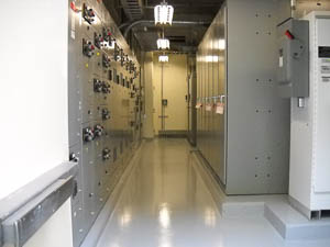 DYNA-PUR Brushable Polyurea Protects Electrical Room Floor