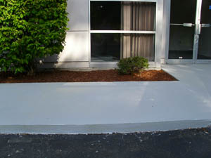 DYNA-PUR Brushable Polyurea Cement Coating on Walkway