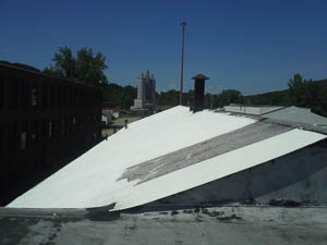 DYNA-COOL AC Coats Industrial Roof to Prolong Roof Life